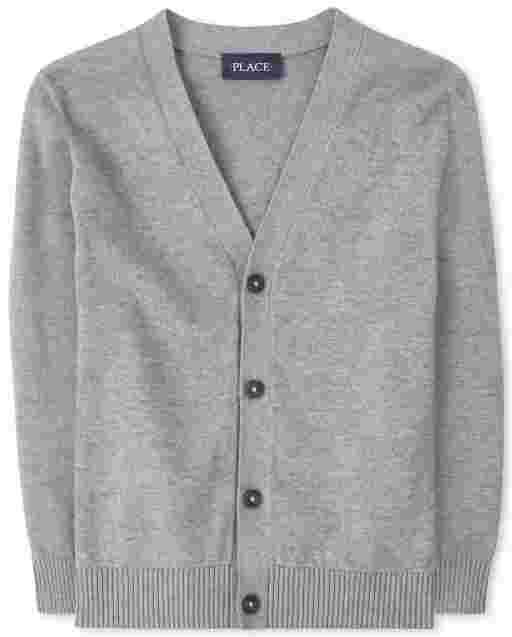 Boys Uniform Long Sleeve Cardigan