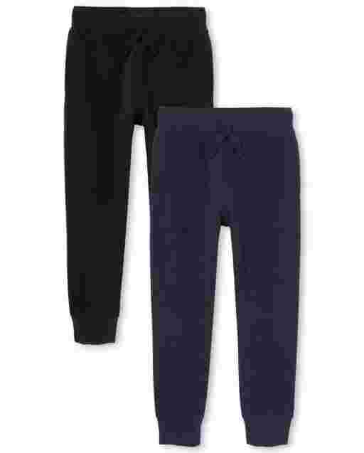Boys Uniform Fleece Jogger Pants 2-Pack