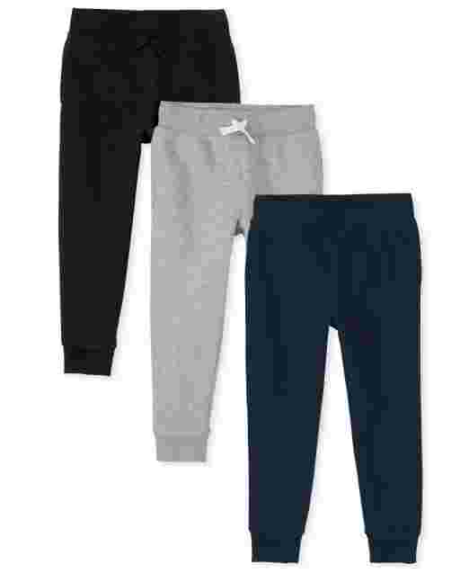 Boys Uniform Fleece Jogger Pants 3-Pack