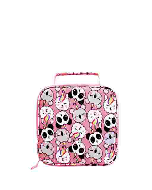 Girls Crittercorn Print Lunch Box