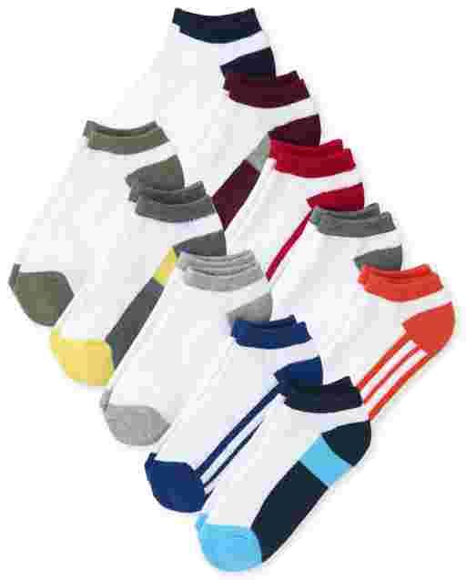 Boys Ankle Socks 10-Pack