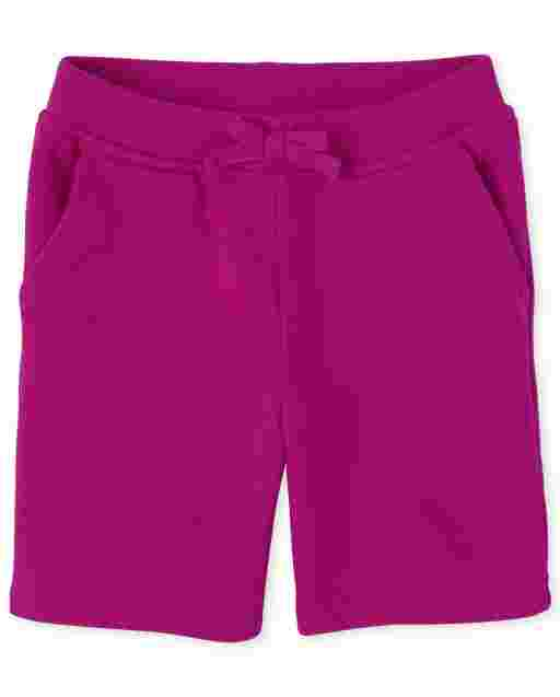 Baby And Toddler Girls Uniform Active French Terry Shorts