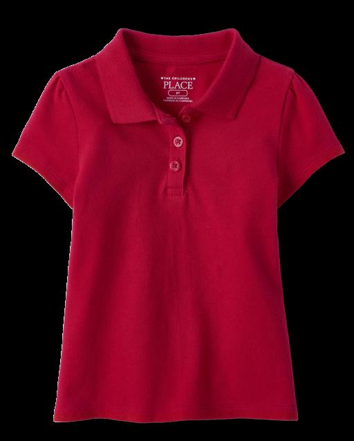 Toddler Girls Uniform Short Sleeve Pique Polo
