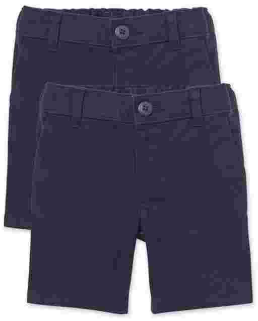 Toddler Girls Uniform Woven Chino Shorts 2-Pack