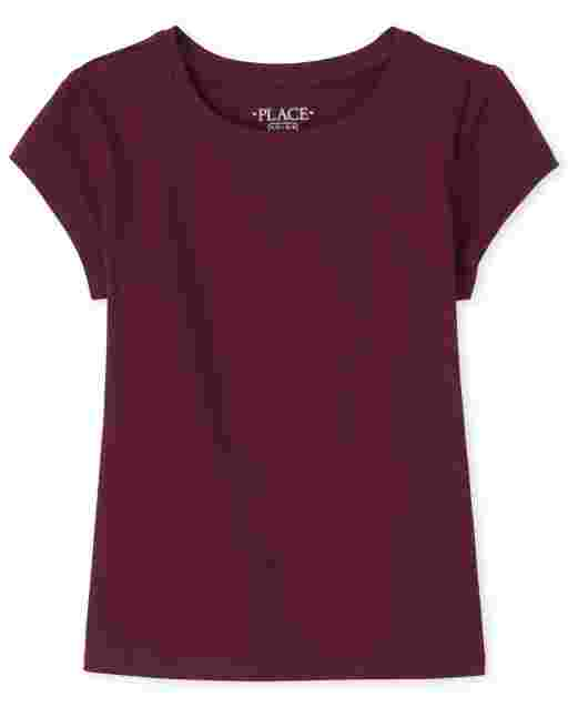 Girls Uniform Short Sleeve Basic Layering Tee