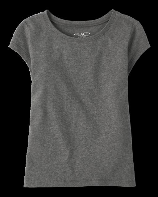 Girls Uniform Short Sleeve Basic Layering Tee