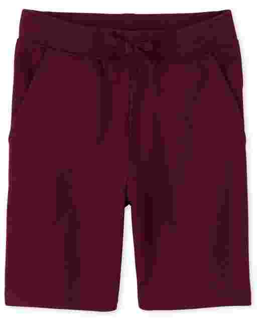 Pantalones cortos de punto de felpa francesa activa de uniforme para niñas