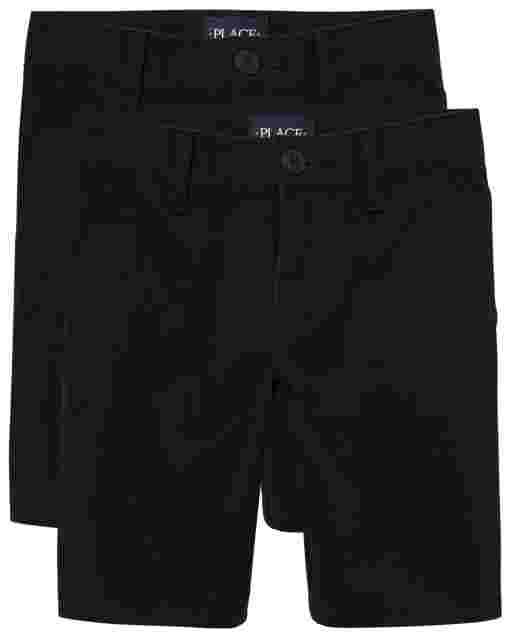 Girls Uniform Woven Chino Shorts 2-Pack