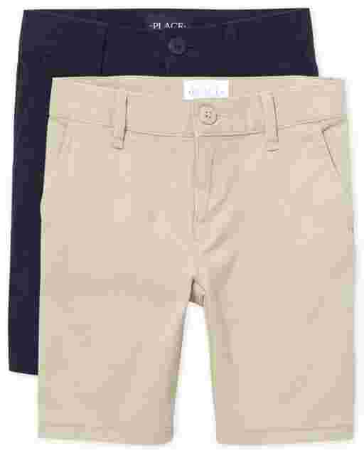Girls Uniform Woven Chino Shorts 2-Pack