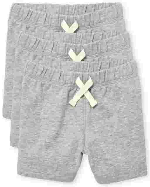 Baby And Toddler Boys Knit Shorts 3-Pack