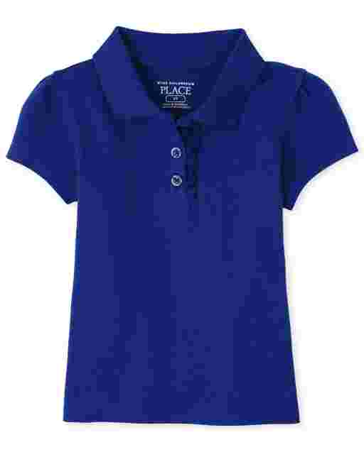 Toddler Girls Uniform Short Sleeve Pique Polo