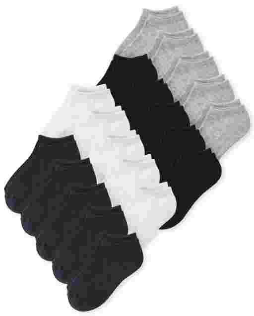 Unisex Kids Ankle Socks 20-Pack