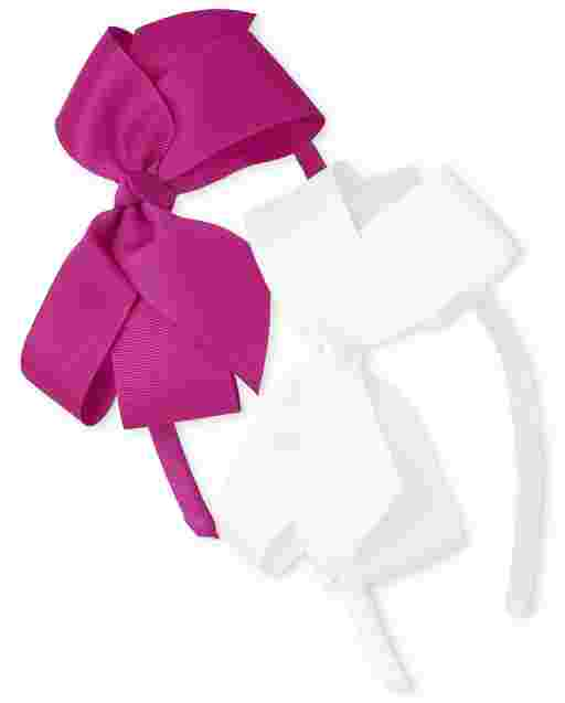Girls Ribbon Bow Headband 2-Pack