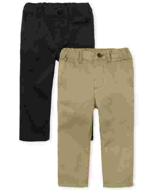 Baby And Toddler Boys Uniform Skinny Woven Chino Pants 2-Pack