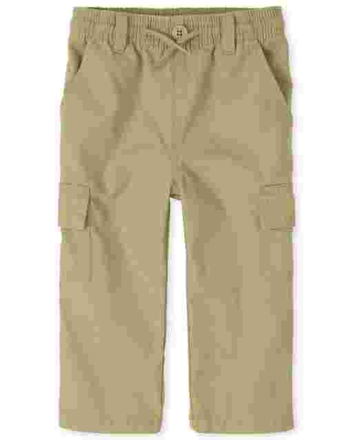 Baby And Toddler Boys Uniform Woven Pull On Cargo Pants