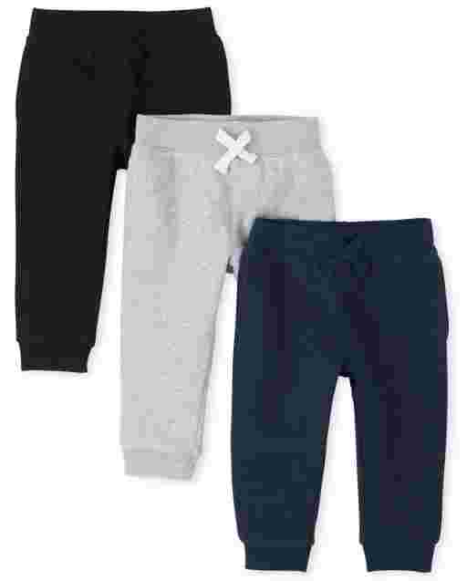Baby And Toddler Boys Uniform Active Fleece Jogger Pants 3-Pack