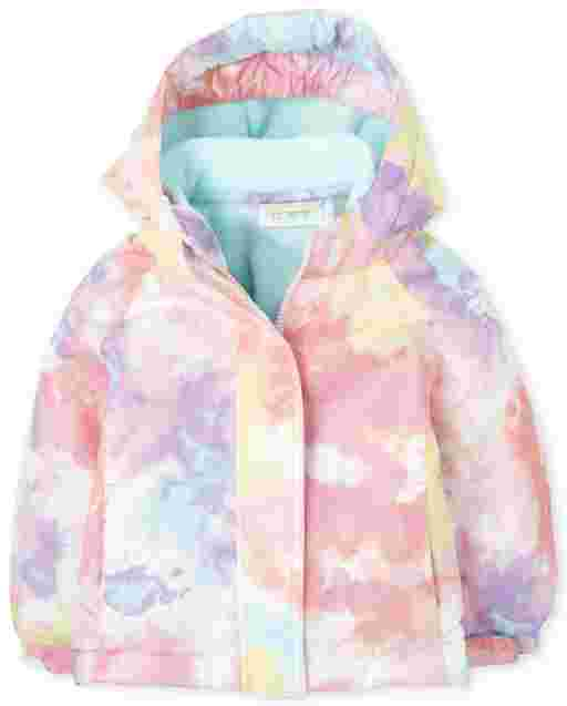 Toddler Girls Long Sleeve Print 3 In 1 Jacket