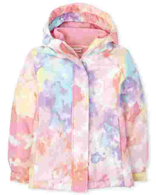 Girls Long Sleeve Print 3 In 1 Jacket