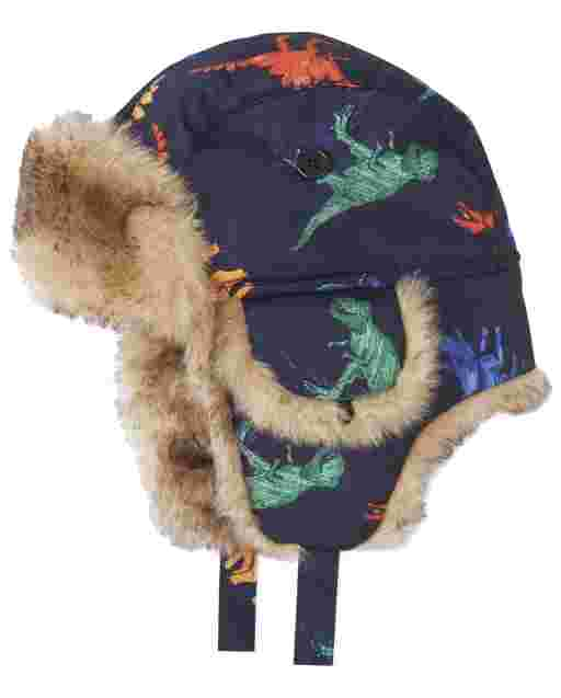 Toddler Boys Dino Trapper Hat