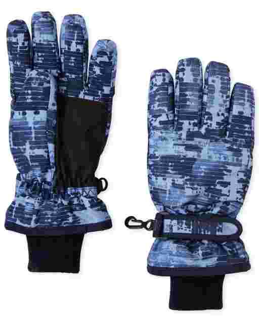 Boys Print Ski Gloves