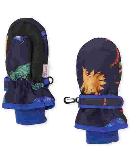 Toddler Boys Dino Ski Mittens