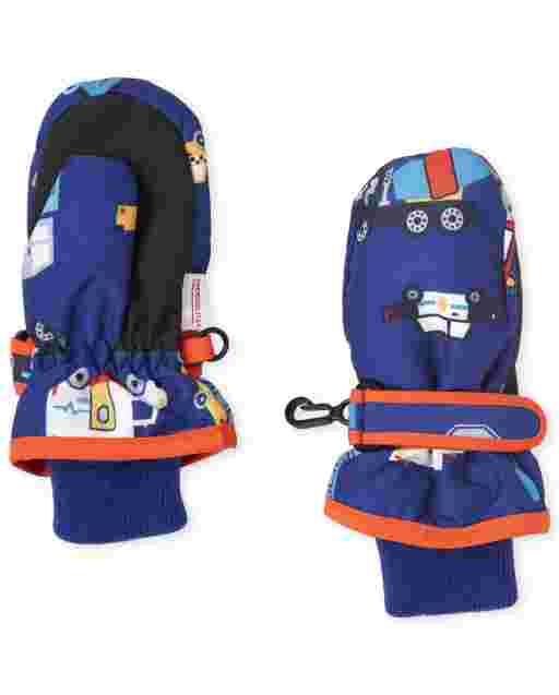 Toddler Boys Transportation Ski Mittens