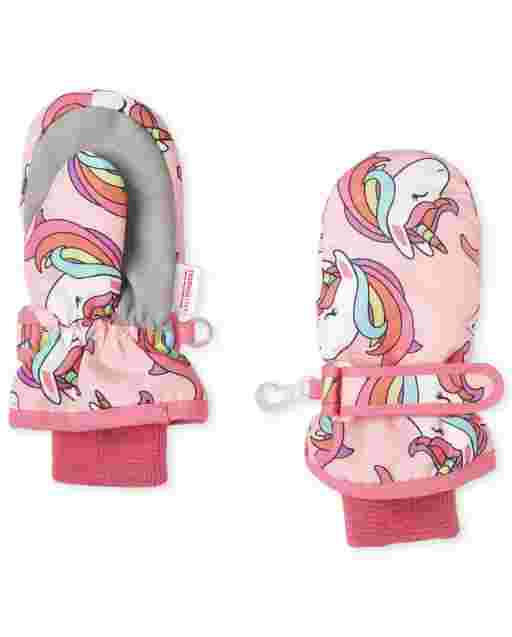 Toddler Girls Unicorn Ski Mittens
