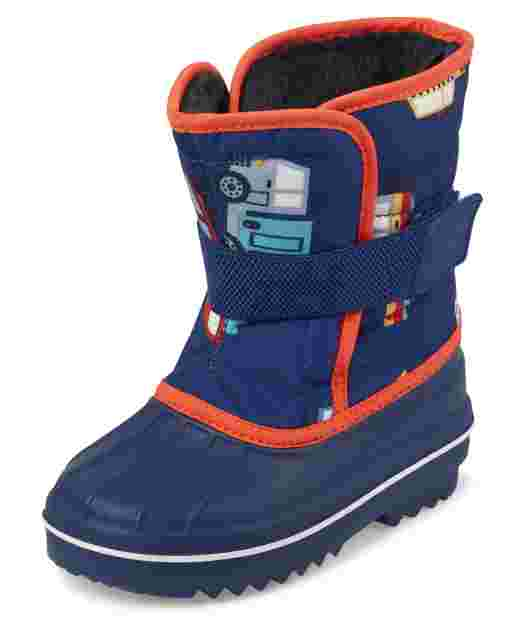 Toddler Boys Transportation Snow Boots