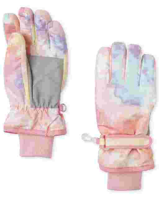 Girls Tie Dye Ski Gloves
