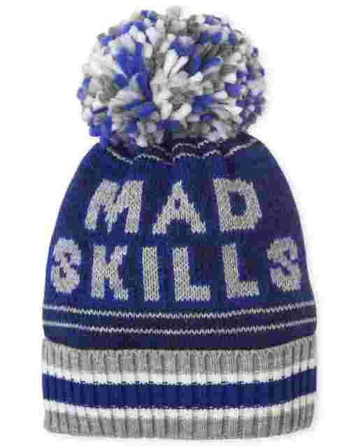 Boys 'Mad Skills' Pom Pom Beanie