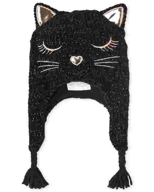 Girls Cat Chenille Hat