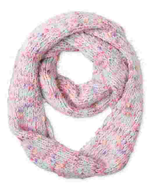 Girls Rainbow Infinity Scarf
