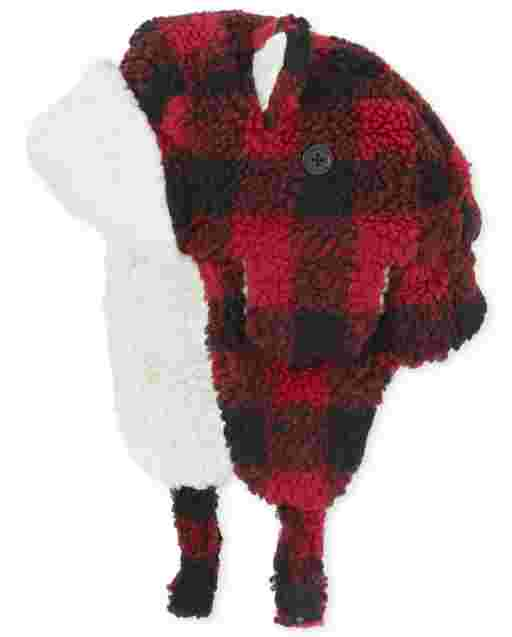Toddler Girls Matching Family Buffalo Plaid Trapper Hat