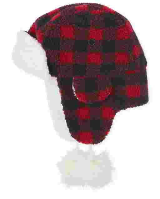 Womens Matching Family Buffalo Plaid Trapper Hat