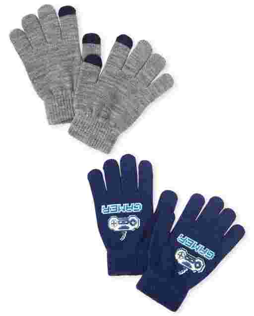 Boys Video Game Texting Gloves 2-Pack<br/>