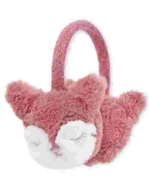 Girls Fox Ear Muffs