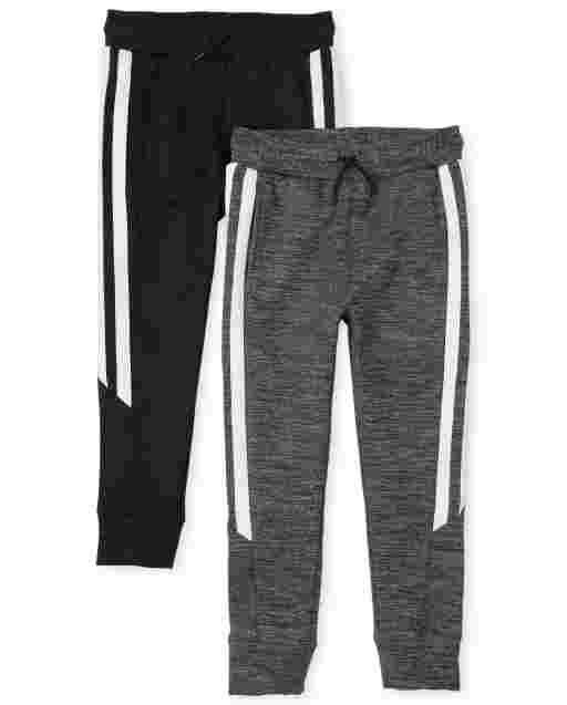 Boys PLACE Sport Side Stripe Knit Performance Jogger Pants 2-Pack