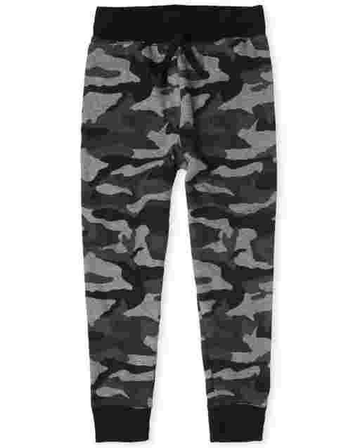 Boys Active Camo Fleece Jogger Pants