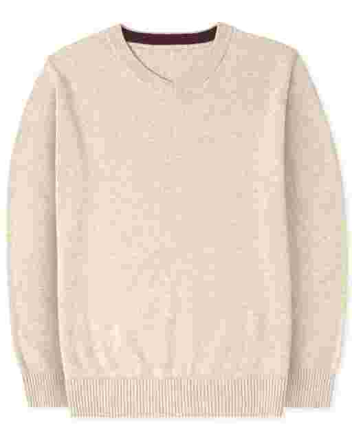 Suéter de manga larga con cuello en V para niños