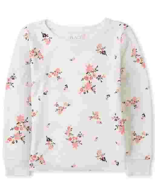 Girls Long Sleeve Print Thermal Top