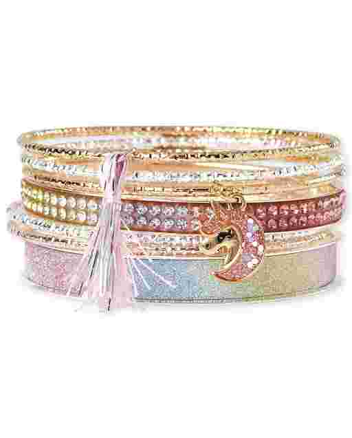 Girls Unicorn Bangle Bracelet 7-Pack