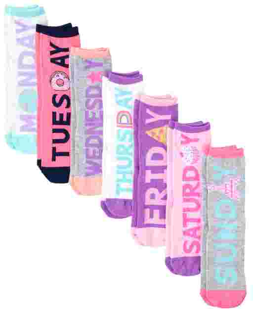 Girls Days Of The Week Crew Socks 7-Pack