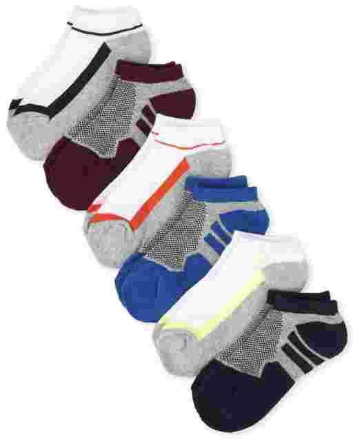 Boys Athletic Ankle Socks 6-Pack