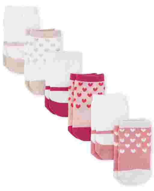 Baby Girls Shoe Midi Socks 6-Pack