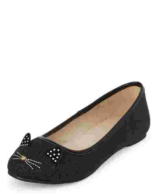 Girls Cat Ballet Flats