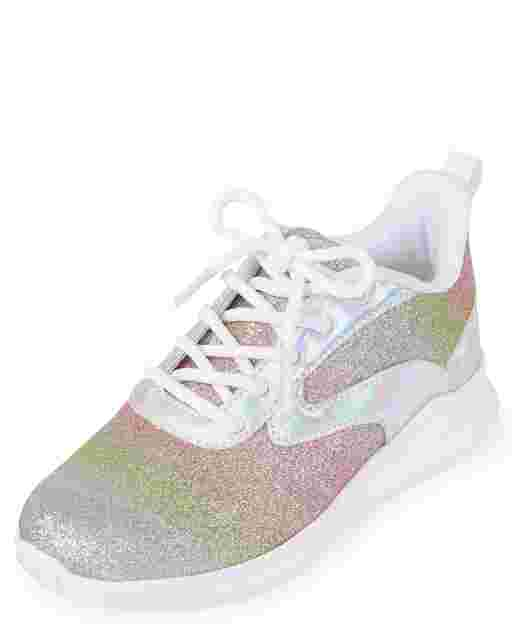 Girls Sparkle Running Sneakers