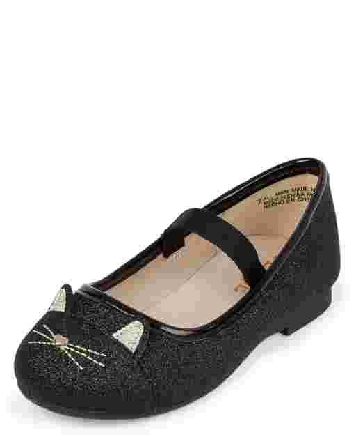 Toddler Girls Cat Ballet Flats