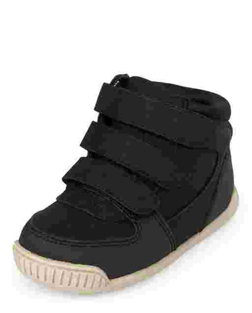 Toddler Boys Strap Hi Top Sneakers
