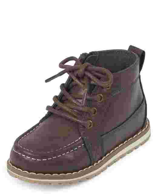 Toddler Boys Lace Up Mid Top Boots