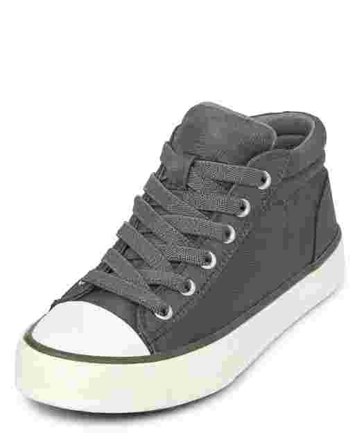 Boys Camo Mid Top Sneakers